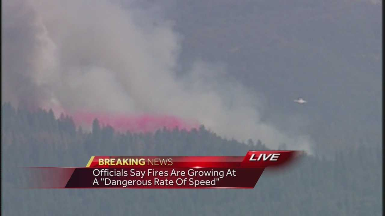 KCRA 3's Mark Finan describes the wind and dry conditions as crews battle multiple fires in Tuolumne County.