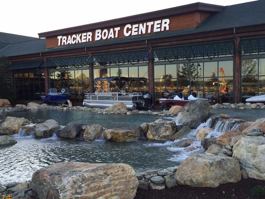 The store has a 5,000 square-foot boat showroom that will display a full range of boats from Tracker Marine, including Mako saltwater boats to Nitro high-performance boats to Regency pontoon boats to pleasure boats. Shoppers can also find canoes and kayaks.