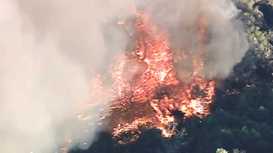 See images from LiveCopter 3 as an explosive fire spreads in Amador County.