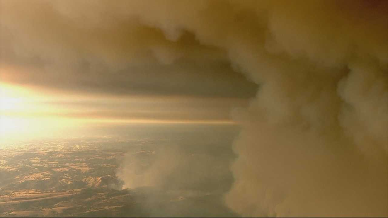 LiveCopter3 was over the Butte fire Thursday, giving viewers a unique perspective that could only been seen from the air.