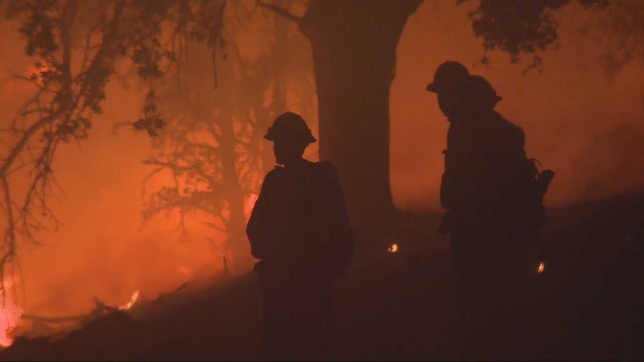 According to fire officials firefighters increased containment of the explosive Butte Fire from 5 to 10 percent overnight but are still working mostly to protect structures.