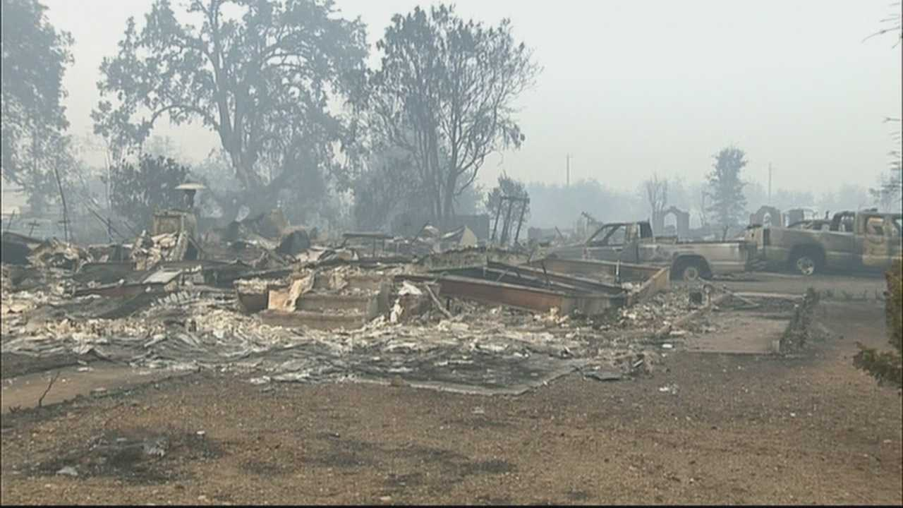 Fire crews are desperately trying to contain a wildifre in Lake County which has already destroyed hundreds of homes and continues to threatens thousands more.