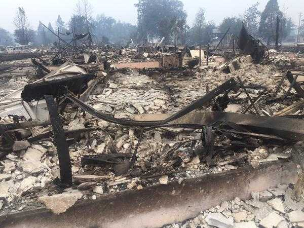 "KCRA's Brian Hickey was in Lake County on Monday and witnessed the aftermath of the Valley Fire. ""Hard to wrap my head around the amount of destruction in Middletown,"" Hickey said in a tweet."