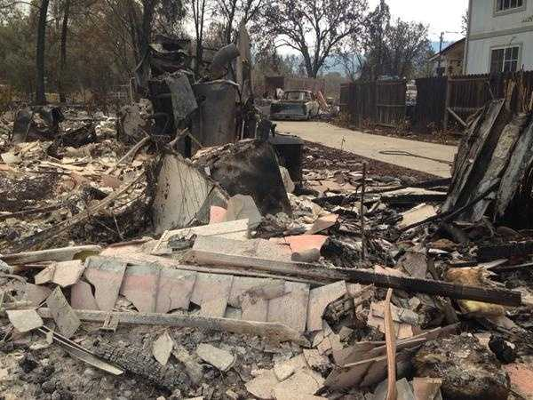 Hundreds of homes have been lost in Lake County as the fast-moving Valley Fire moved through the area. (Sept. 14, 2015)