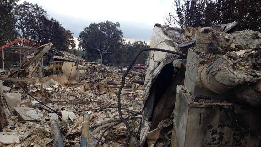 Devastation caused by the Valley Fire in Lake County. (Sept. 14, 2015)