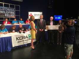 KCRA 3 teamed with the American Red Cross for a wildfire relief efforts.