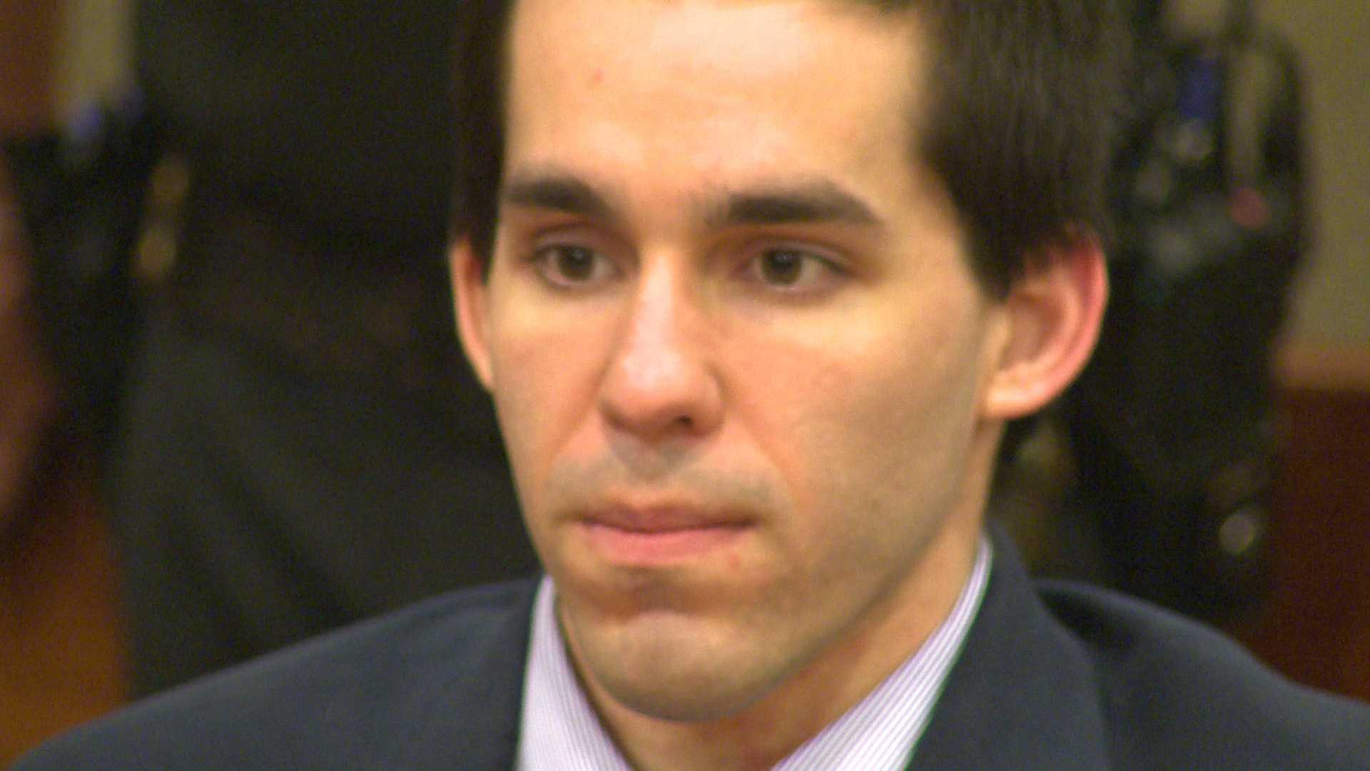 Ryan Douglas Roberts listens as the verdict is read in his murder trial.