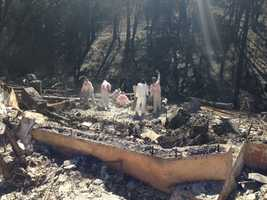 Some Mountain Ranch residents returned home to find only the foundation of their house. Victims of the Butte Fire started sifting through rubble on Wednesday, Sept. 23, 2015.