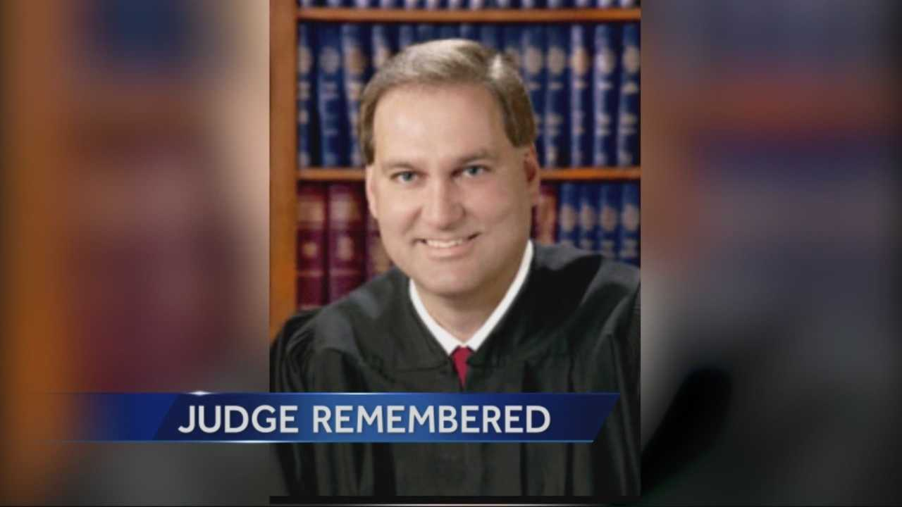 Superior Court Judge Stephenson is remembered after dying in an auto accident reportedly cause by his suffering a heart attack.