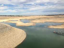 Folsom Lake was at 19 percent capacity on Thursday, Sept. 24, 2015. Water levels at the reservoir have been dropping since California entered this historic 4-year drought.