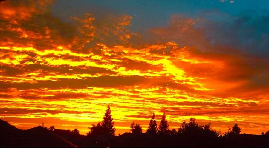 Photo taken in Lodi. 15 gorgeous u local photos of Tuesday's sunset in NorCal