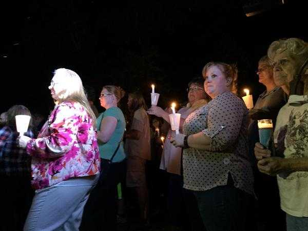 A shooting at Umpqua Community College in Roseburg, Oregon, on Thursday left 10 people dead and seven wounded, authorities said. Within hours, the community gather to mourn the loss of life.