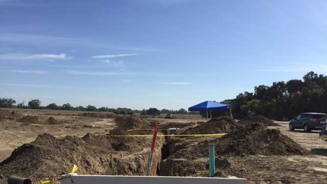 Two human skulls wee found at a construction site in West Sacramento, police said on Wednesday, Oct. 7, 2015.