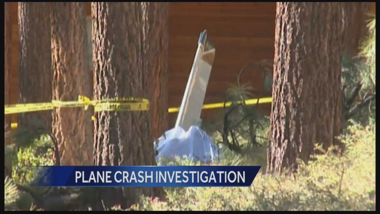 Federal investigators from the National Transportation Safety Board were on the scene Sunday of a plane crash that killed two people in South Lake Tahoe.