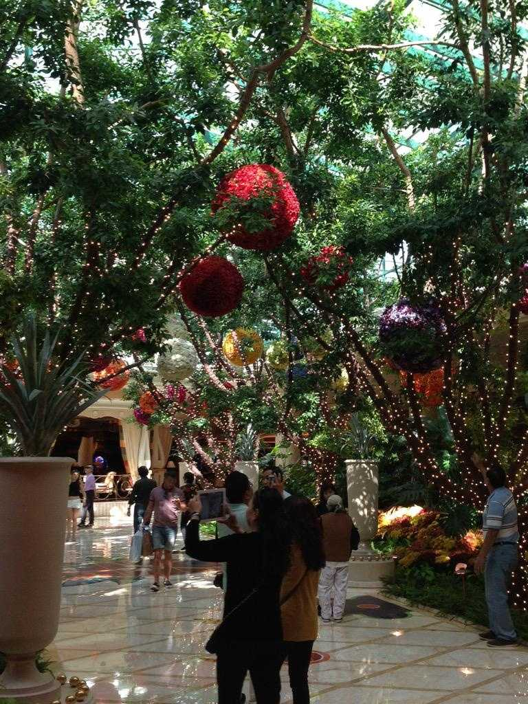 Inside the Las Vegas Wynn Hotel, where the 2015 Democratic debate is scheduled to take place Tuesday. (Oct. 12, 2015)