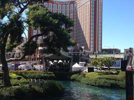 The Democratic debate is taking place at the Wynn Hotel in Las Vegas. (Oct. 12, 2015)