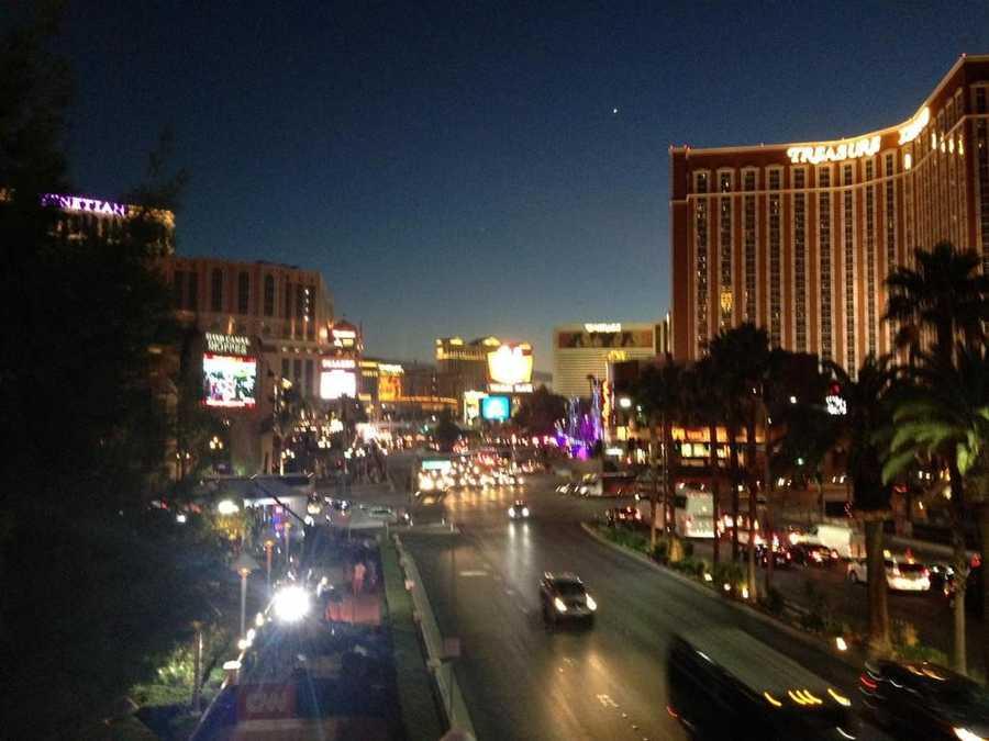 An evening shot of the Las Vegas strip. (Oct. 12, 2015)