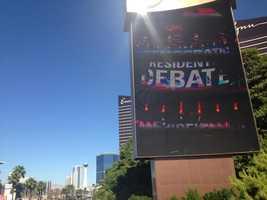 Las Vegas gearing up for the 2015 CNN Democratic debate. (Oct. 13, 2015)