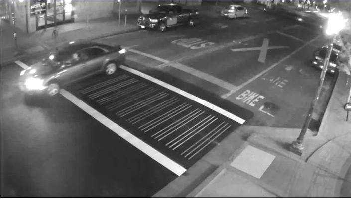 The Sacramento Police Department released a photo from a Sacramento Police Department's Police Observation Device showing the suspect vehicle driving through the intersection of 20th and K streets on Oct. 7, 2015.