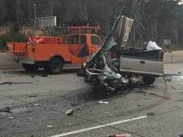 No Caltrans employees were injured in the incident, CHP said.
