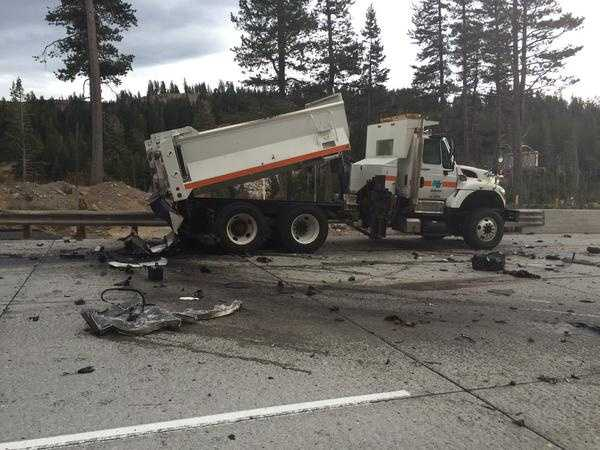 Motorists are being detoured onto Donner Pass Road.