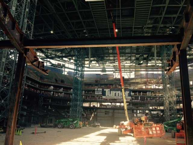 KCRA got an inside look at the construction zone of the new downtown Sacramento arena, the Golden 1 Center. (Oct. 16, 2015)