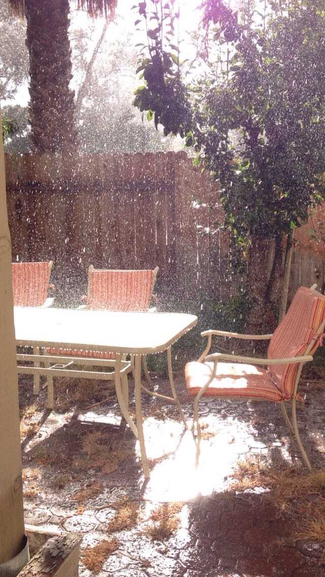 Hail in Vacaville. Photo shared by Diana on Sunday, Oct. 18, 2015.