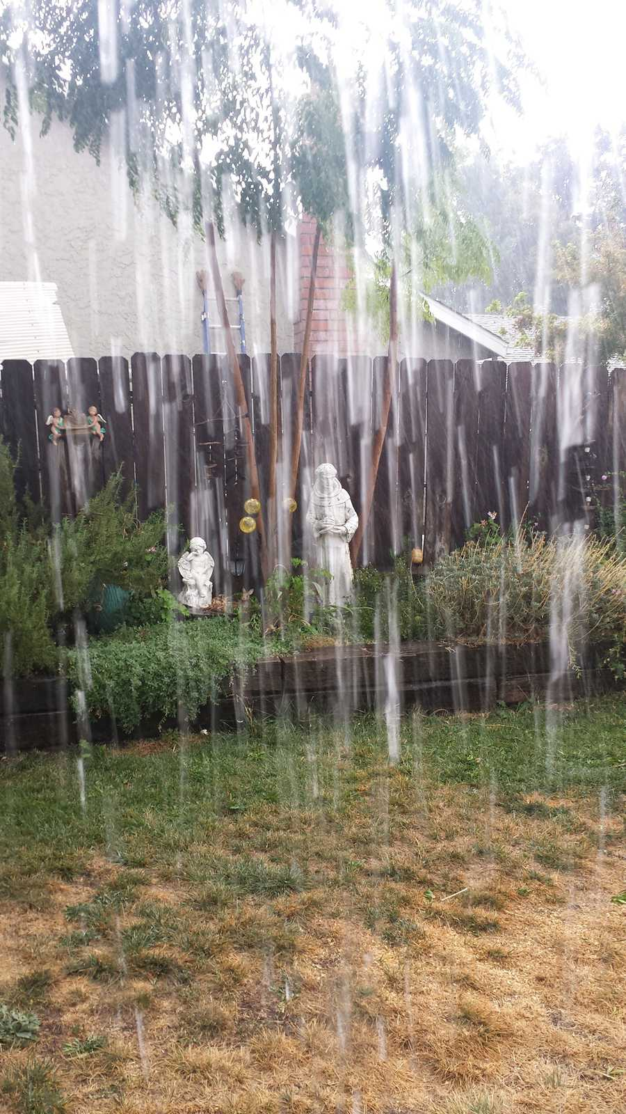 Rain in Vacaville. Photo was shared by a KCRA viewer on Sunday, Oct. 18, 2015.