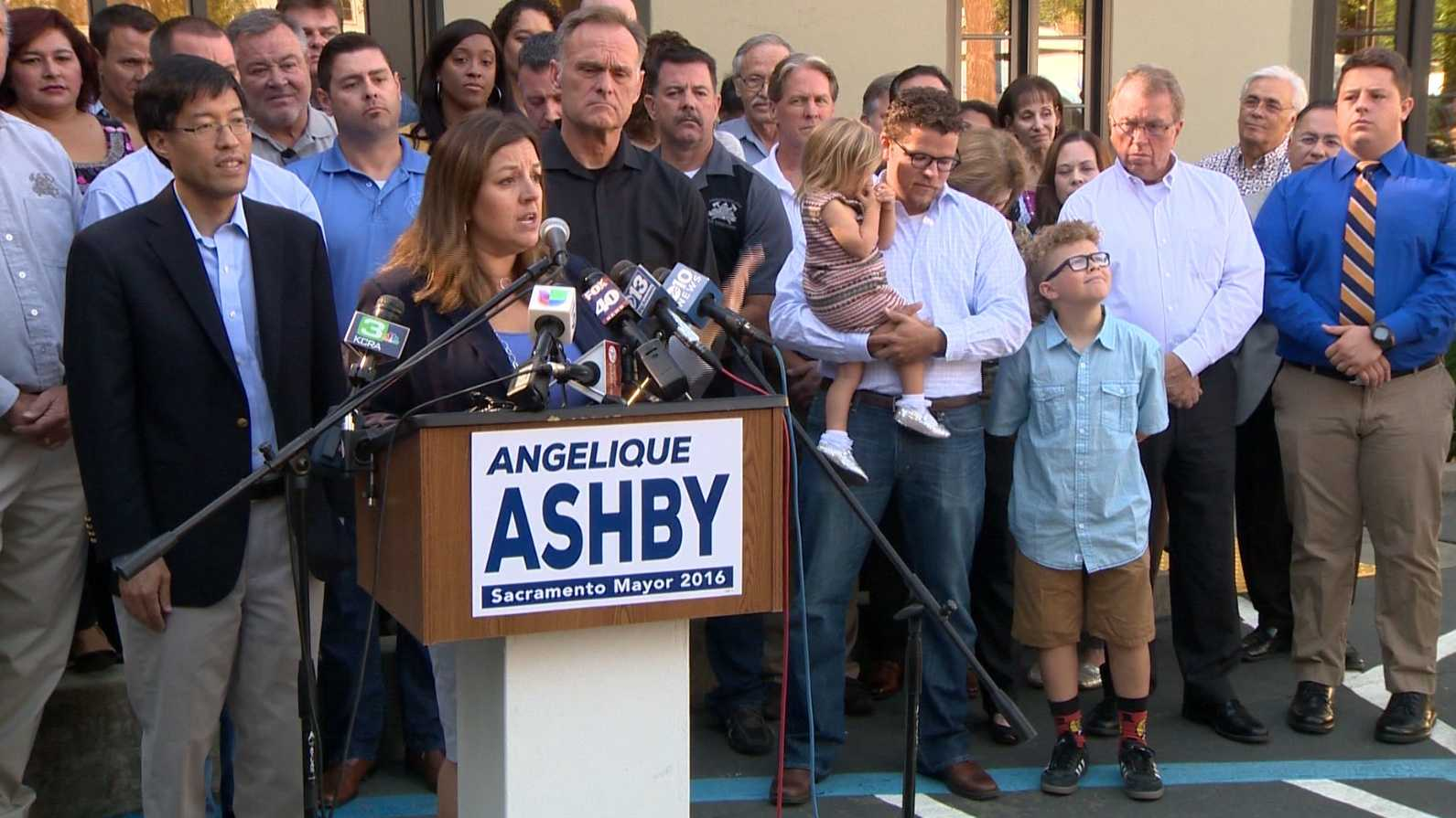 Sacramento Mayor Pro Tem Angelique Ashby announced her candidacy for mayor on Wednesday, Oct. 21, 2015, less than 24 hours after Mayor Kevin Johnson announced he will not seek re-election.