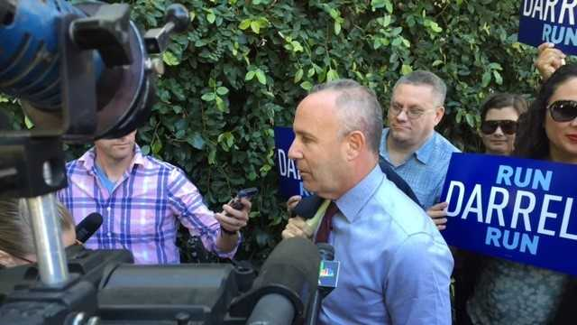 Darrell Steinberg speaks with reporters in Sacramento on Oct. 22, 2015.