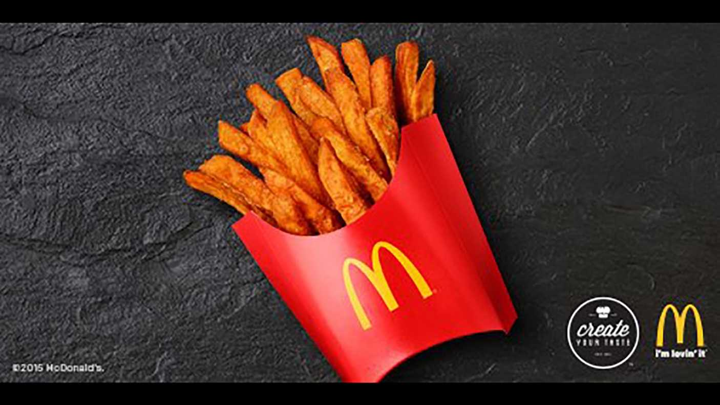 McDonald's is testing sweet potato fries in Amarillo, Texas locations.
