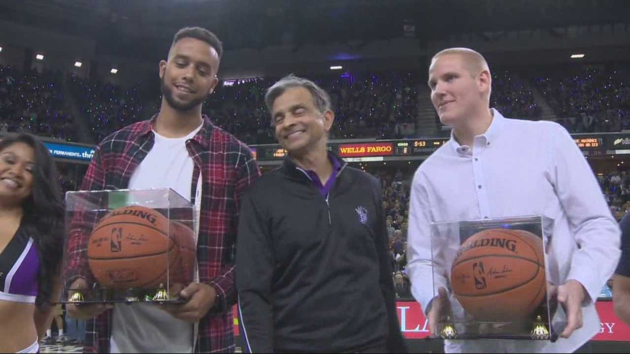 As the Kings kicked off their season opener at Sleep Train Arena, they welcomed and honored Sacramento's hometown heroes.
