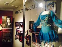 Olympic gold medal figure skater Kristi Yamaguchi was also inducted into the California Hall of Fame. She donated a tiny figure skating outfit.