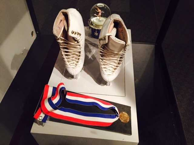 In addition, visitors can check out Yamaguchi's white skates and her gold medal.