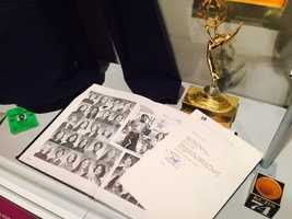 """""""NBC Nightly News"""" anchor Lester Holt, who attended Cordova High School and Sacramento State, gave the museum his rejection letter from NBC, which sits next to his high school yearbook."""