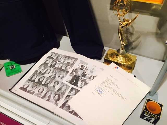 """NBC Nightly News"" anchor Lester Holt, who attended Cordova High School and Sacramento State, gave the museum his rejection letter from NBC, which sits next to his high school yearbook."