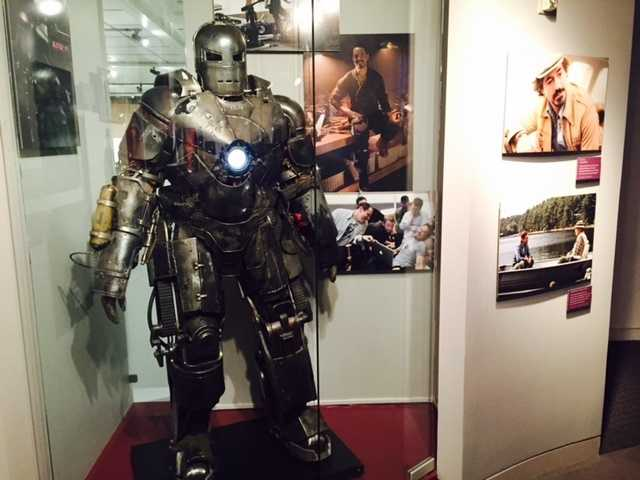 Downey donated the famous original Iron Man suit, but a Hollywood secret, as told by Richard Costigan, of the California Museum, is that it may not be as heavy as it looks.