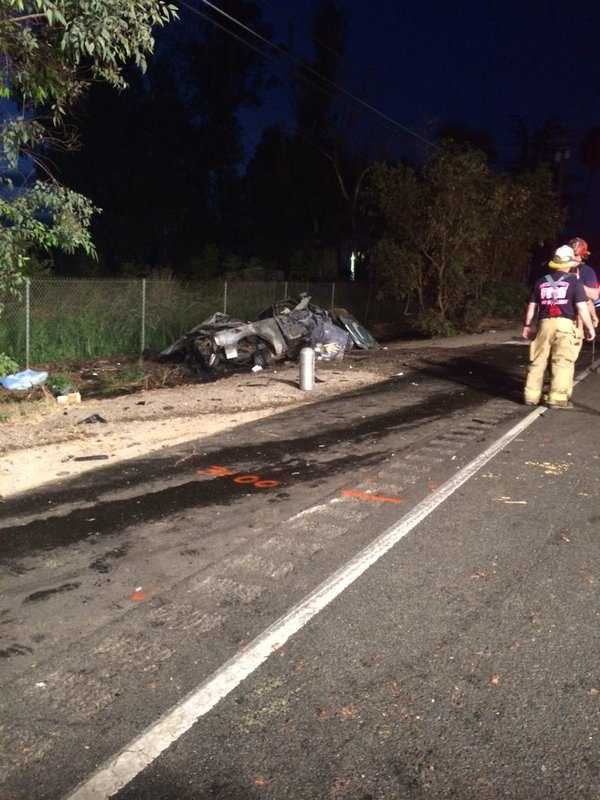 Highway 99 was closed Saturday following a fatal crash south of Yuba City.