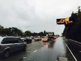 The wet weather made it tough for the morning commute, causing many accidents along Northern California roadways. (Nov. 2, 2015)