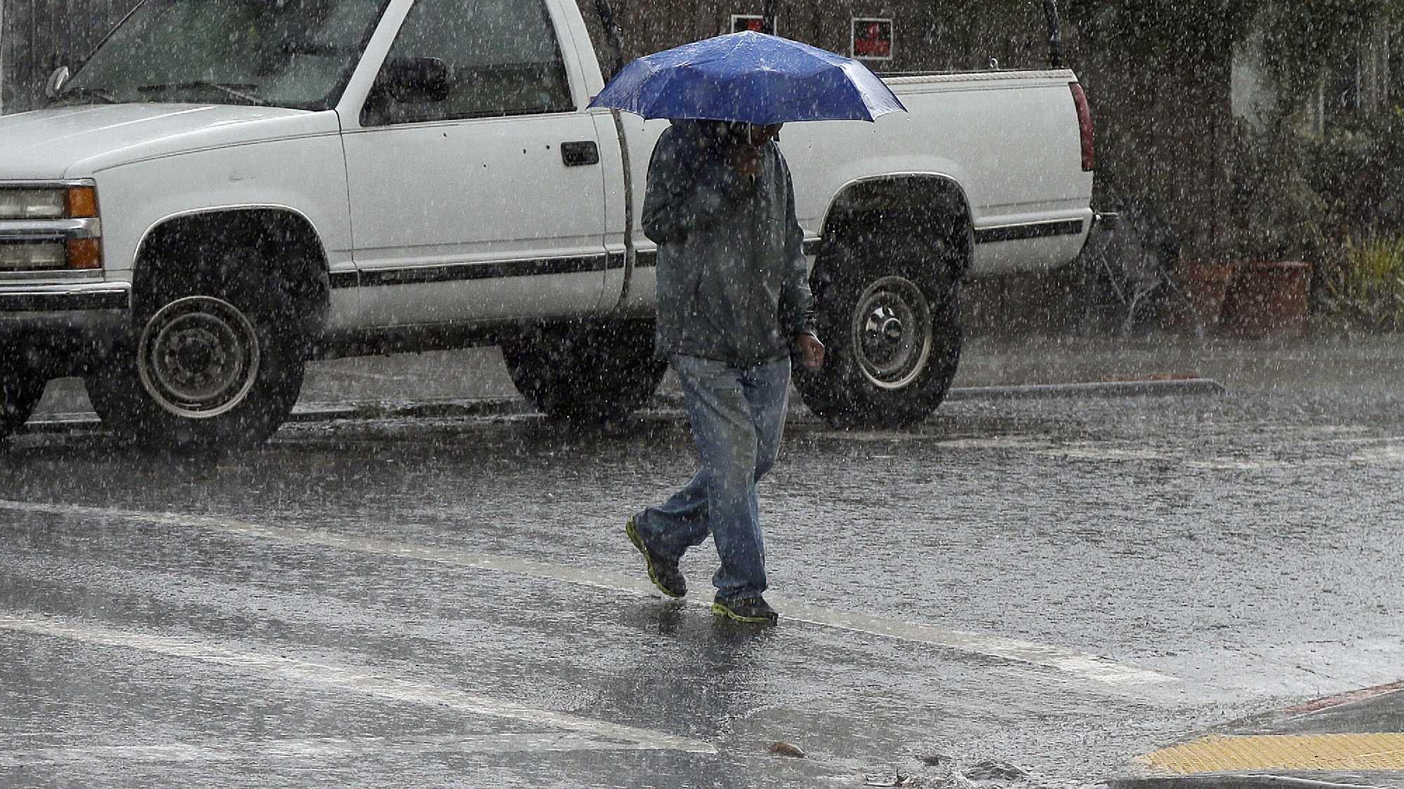 California rain storm photo