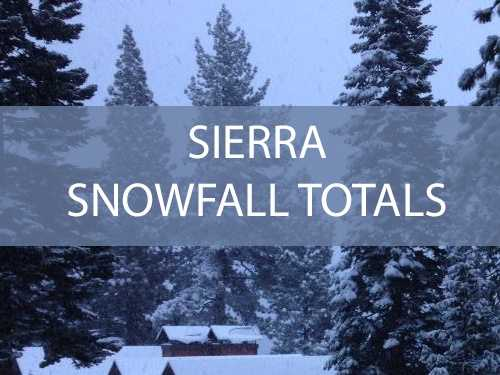 See how much snow fell at Sierra ski resorts during the latest round of storms to roll through Northern California.