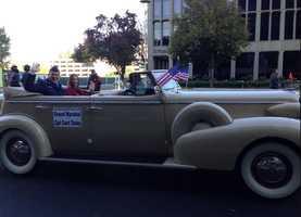 The grand marshal of Sacramento's Veterans Day Parade was Captain Curt Taras, of Folsom. (Nov. 11, 2015)