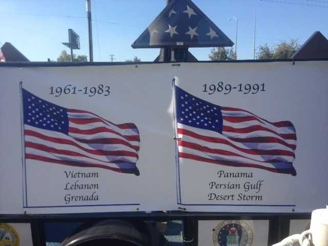 Veterans and Stockton residents came out to honor those who have fought for our freedom during the re-dedication of the Stockton Vietnam Memorial Wall. (Nov. 11, 2015)