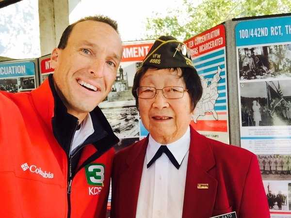 "KCRA's Mike TeSelle spent some time with a 90-year-old veteran at a Rancho Cordova Veterans Day event. ""(It was a) great honor to meet this woman on #VeteransDay2015,"" TeSelle tweeted."