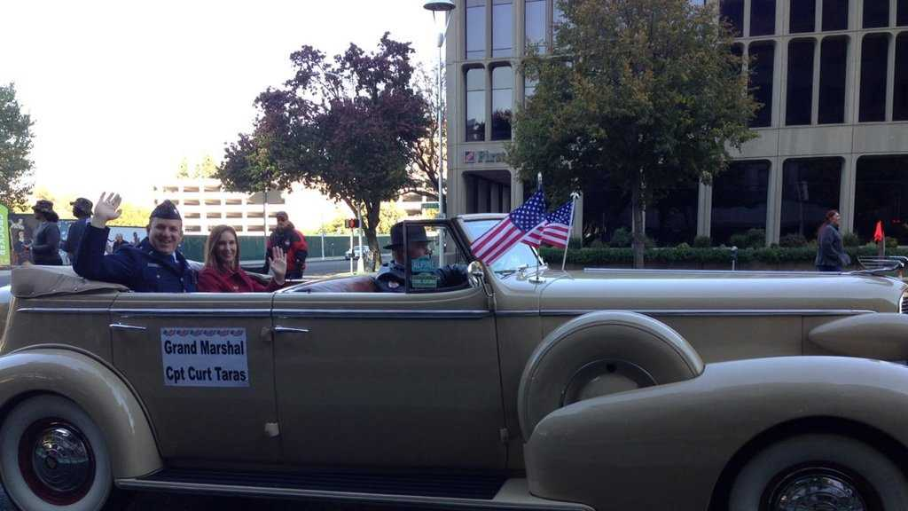 Capt. Curt Taras of Folsom served as the Grand Marshal in Wednesday Veterans Day parade in Sacramento.