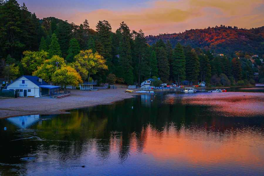 Lake Gregory is nestled in the San Bernardino Mountains, about 75 miles from Los Angeles.