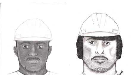 Suspect No. 1 (left) and suspect No. 2 (right)