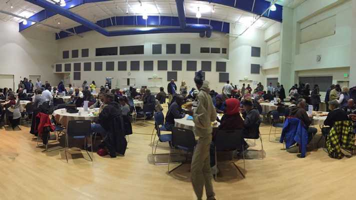 About 100 people were at Capital Christian Center for the first night of winter sanctuary. The church opened its door to those who are homeless so they can have warm place to sleep and eat.