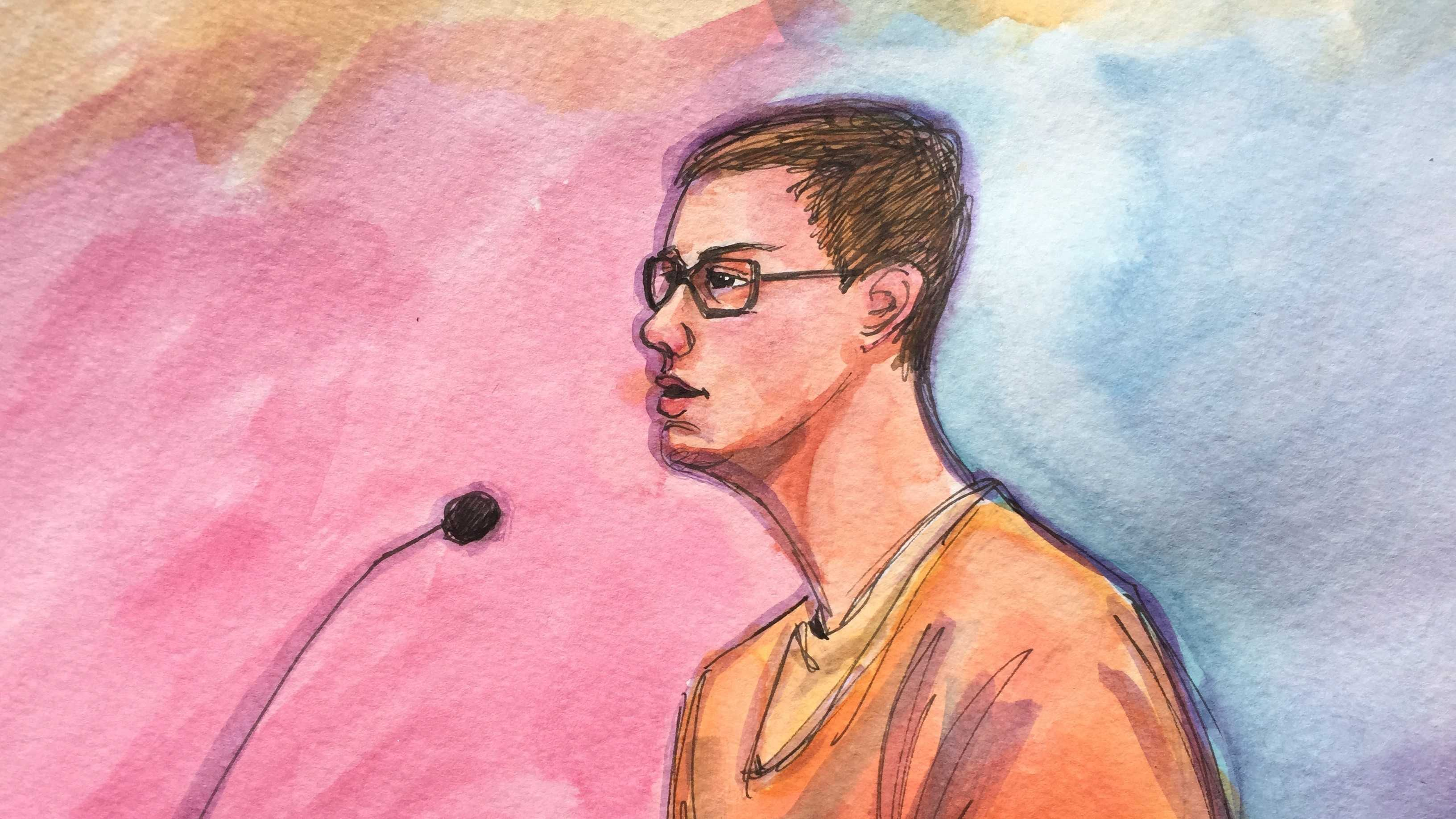 Nicholas Teasuant pleaded guilty Tuesday to a terrorist-related charge.  (Dec. 1, 2015)
