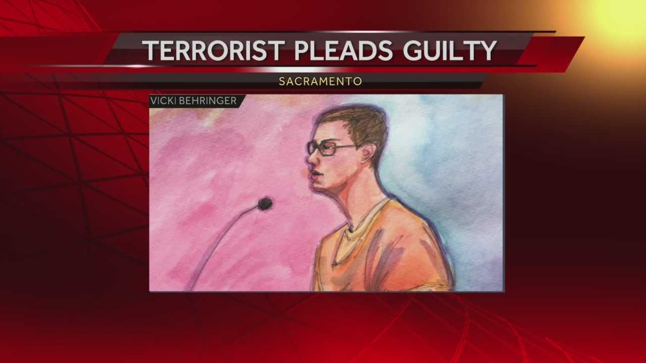 Nicholas Michael Teausant of Acampo plead guilty in federal court Tuesday to a felony charge of providing material support to a terrorist organization, ISIS.